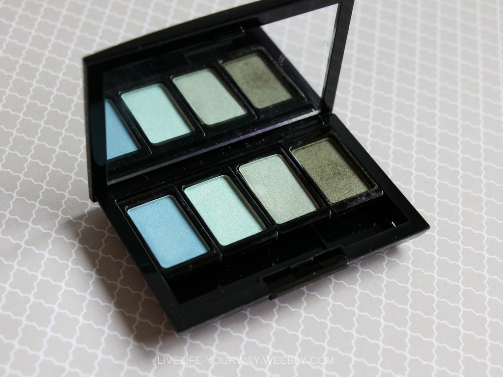 Custom ArtDeco Eyeshadow Palette Fresh Water (267) Aero Spring Green (255) Green Atlantis (246) Pearly Medium Pine Green (40)
