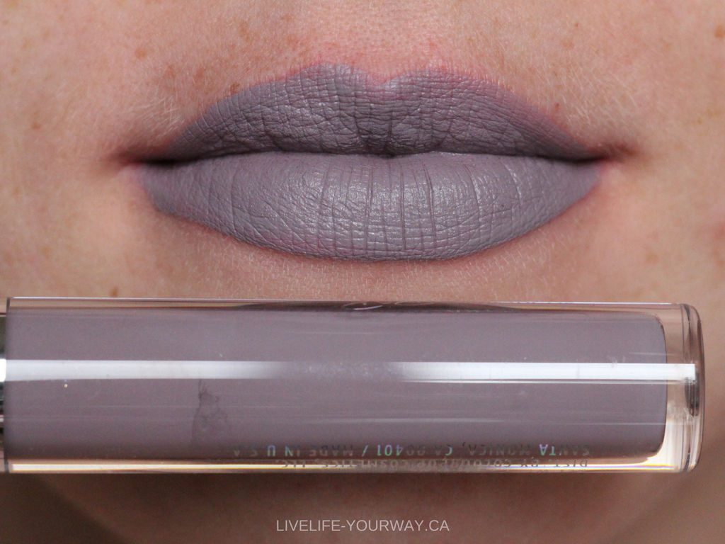 Lip swatch of ColourPop's Ultra Satin in Marshmallow