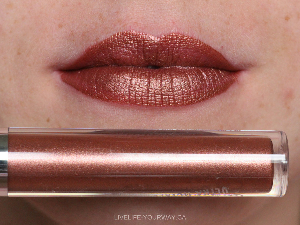 Lip swatch of ColourPop's Ultra Metallic in Man Eater
