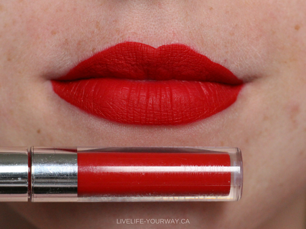 Lip swatch of ColourPop's Ultra Matte Mini in Creeper
